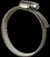 Хомут затяжной (червячный) W2 Ø200-220 мм нержавеющая сталь А2