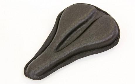 Чехол накладка на сиденье для велосипеда гелевая TQ-030CR (черный)
