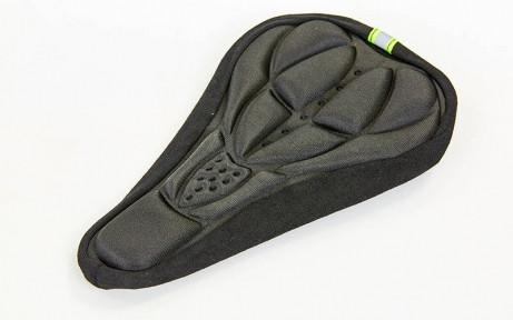 Чехол накладка на сиденье для велосипеда гелевая TQ-04PT (черный)