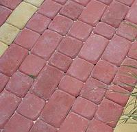 Тротуарная плитка Старый город 40мм (вишня)