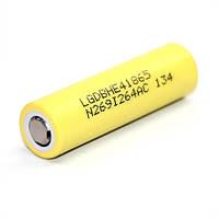 Аккумулятор LG ICR18650HE4 (20A) 2500mAh (LiNiMnCo) высокотоковый (без платы защиты), фото 1