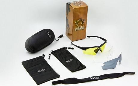 Очки спортивные солнцезащитные 5.11 в футляре TY-5328 (пластик, акрил, 2 сменные линзы)