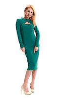 Стильное приталенное трикотажное женское демисезонное платье play S 44 бирюзовый  s19APw13_8