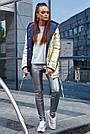 Стильна Куртка жіноча, р. від 42 до 48, золото з синім, демісезонна, двостороння, з капюшоном, фото 4