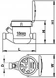 Счётчик воды холодной GROSS MTK-UA 50F MTW-UA, фото 2
