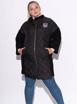 Куртка из комбинированных материалов черная