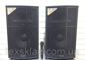 Акустика RC-1200 активна з радіомікрофоном (300W/FM/Bluetooth/USB)