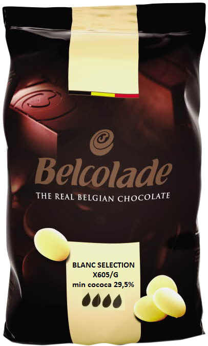 Белый шоколад    BELCOLADE SELECTION ,  29,8%, дропсы 1 кг.