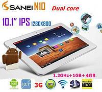 Планшет Sanei N10 3G 10,1'' Sanei N10 GPS 4 Ядра IPS Достаточно мощный Белый цвет Качество Новинка Код: КГ9441