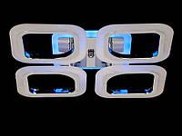 Светодиодная люстра с пультом-диммером и синей подсветкой черный хром AS8060-4