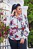 Женская шифоновая блузка с отделкой рюш 50-52, 54-56, фото 3