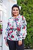 Женская шифоновая блузка с отделкой рюш 50-52, 54-56, фото 4