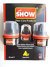 Крем-блеск для обуви SHOW черный