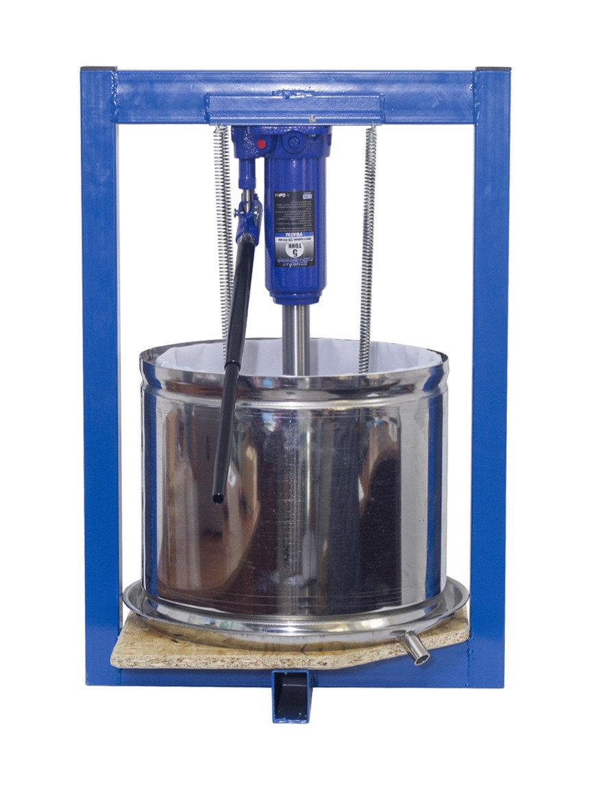 Прес для соку гідравлічний 25л. подвійна кошик з нержавіючої сталі