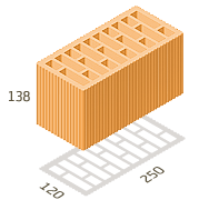Керамический блок Керамейя ТеплоКерам 2.12 нф м150