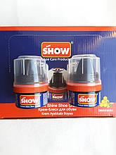 Крем-блеск для обуви SHOW синий