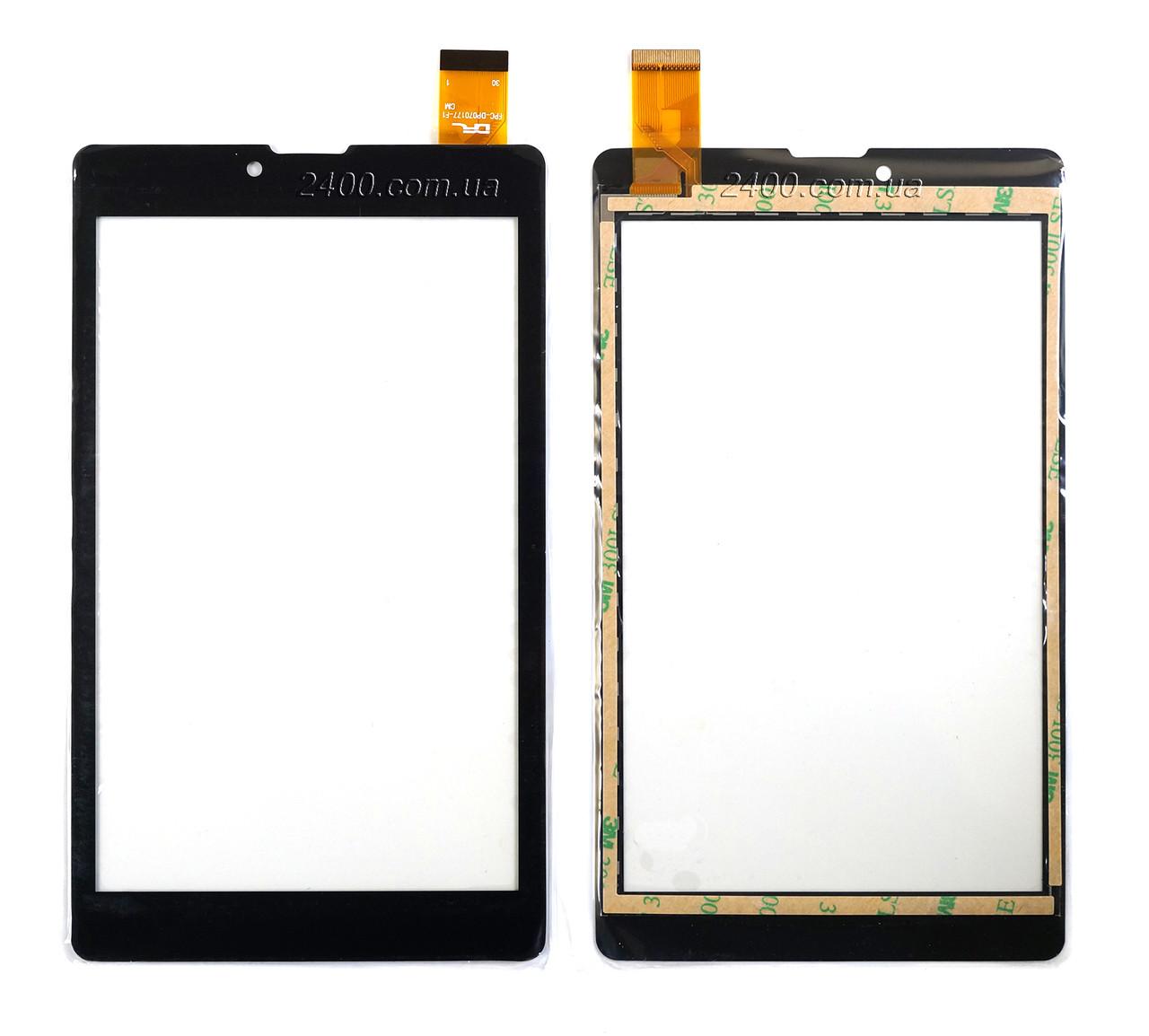 Сенсор, тачскрин RoverPad Pro S7 3G (черный) 30pin 184*106 мм, FPC-DP070177-F1