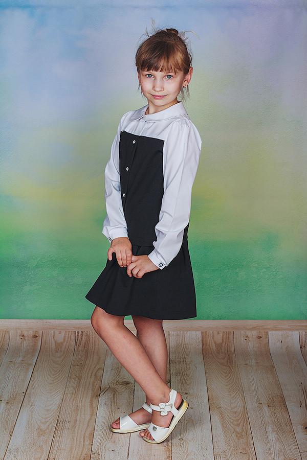 Школьный костюм для девочки черный