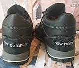 New Balance детские зимние ботинки кожа Кроссовки для подростков на меху и шнурках сапоги чёрные нью баланс Nb, фото 5