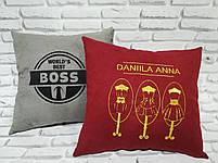 Подушка с вышивкой вашего логотипа, фото 5
