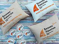 Подушка с вышивкой вашего логотипа, фото 3