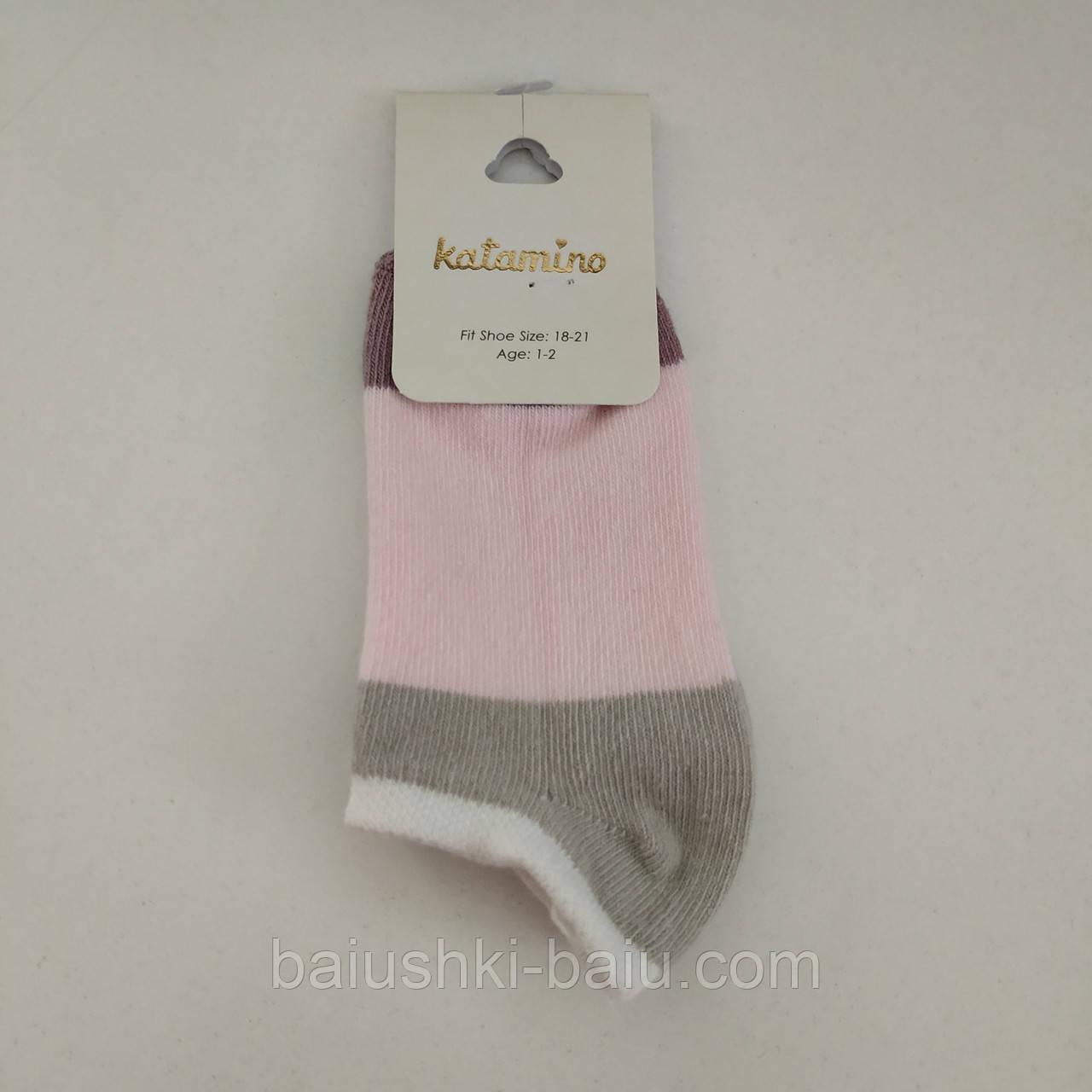 Детские хлопковые короткие носки для девочки, р. 1-2 года
