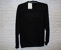 Свитер мужской черный модный Givenchy реплика свитшот мужской черный осенний с имитацией дырок S размер