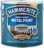Фарба по металу, з глянцевим ефектом Hammerite, срібляста 0,75 л.