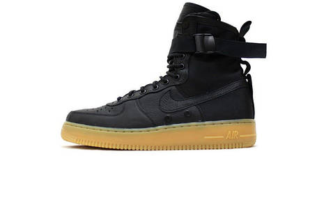 Мужские кроссовки Nike SF Air Force 1 High 1 Black/Gum, фото 2
