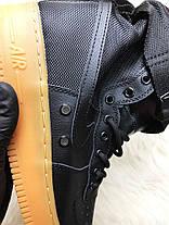 Мужские кроссовки Nike SF Air Force 1 High 1 Black/Gum, фото 3