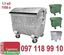 Бак мусорный металлический контейнер для мусора 1100 литров