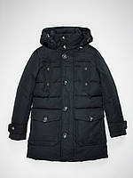 Пуховик куртка партка Mixture Италия для мальчика темно-синий 134