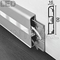 Накладной алюминиевый плинтус с LED-подсветкой Progress PROSKIRTING LED, фото 1
