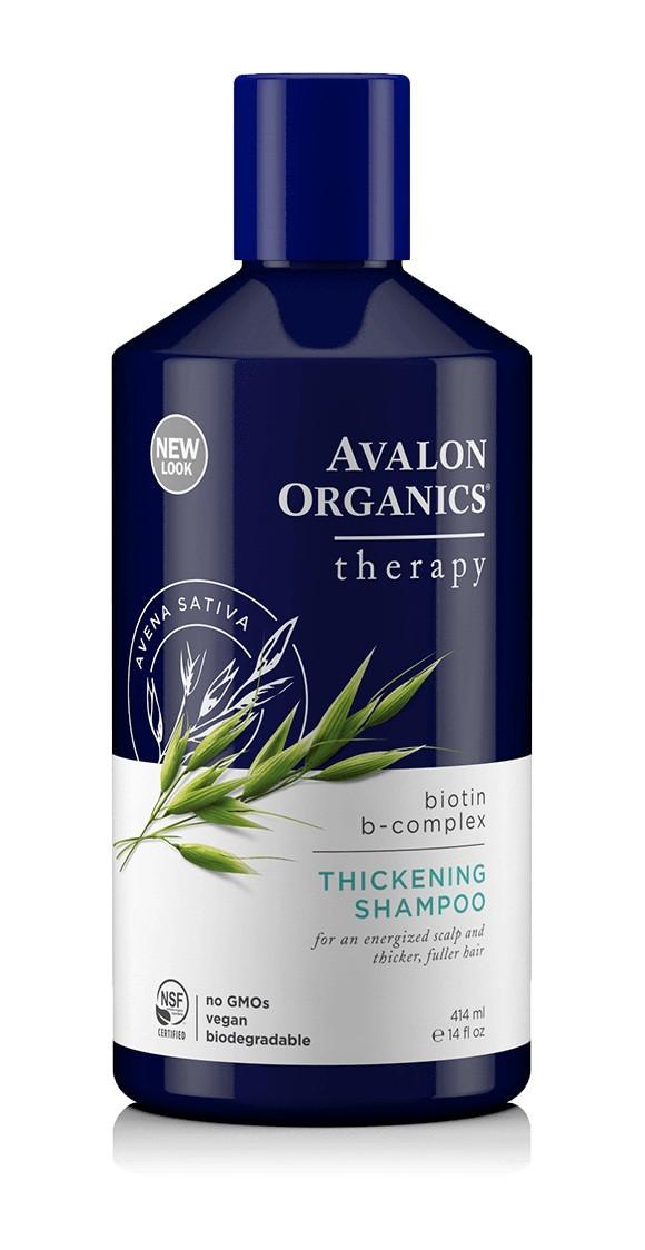 Восстанавливающий шампунь с биотином, 414мл, Avalon Organics