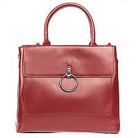 Хит продаж! Женская сумка из натуральной кожи красного цвета классика, фото 1