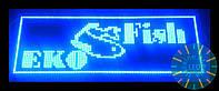 Светодиодная синяя бегущая строка LED от производителя 96 на 32 см