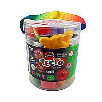 "Детский пластелин ""Тесто для лепки ""Fluoric"", 12+1 цветов, фото 1"