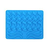 Форма для желейных конфет карамели Червячки Дельфин Морская Звезда, фото 1