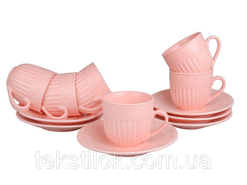 Набор чайных чашек с блюдцем Ажур 12 пр.