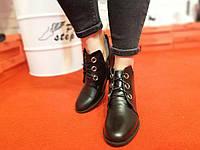 Модные женские ботиночки-туфли из кожи натуральной, замши, 36-41р