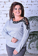 Кофта женская с кружевом, фото 1