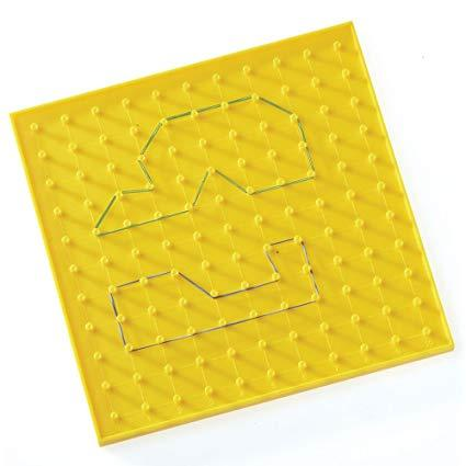 Пластиковий жовтий геоборд (1 шт) Learning resources