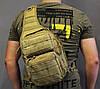 Однолямочный рюкзак на 9 л  тактический, туристический, городской рюкзак на одно плечо Олива (ta9-coyote), фото 2