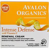 Восстанавливающий крем для лица с витамином С, биофлавоноидами лимона и экстрактом белого чая, 57гр, Avalon Or