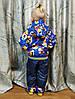 Детский демисезонный комбинезон куртка и штаны для мальчика синий 4-5 года, фото 4