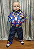Детский демисезонный комбинезон куртка и штаны для мальчика синий 4-5 года, фото 6
