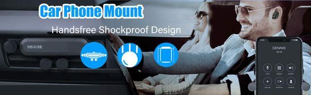 Автомобільний тримач INIU для телефону в автомобілі з вентиляційним отвором