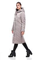 Модная удлиненная зимняя куртка  размеры 42-54, фото 2