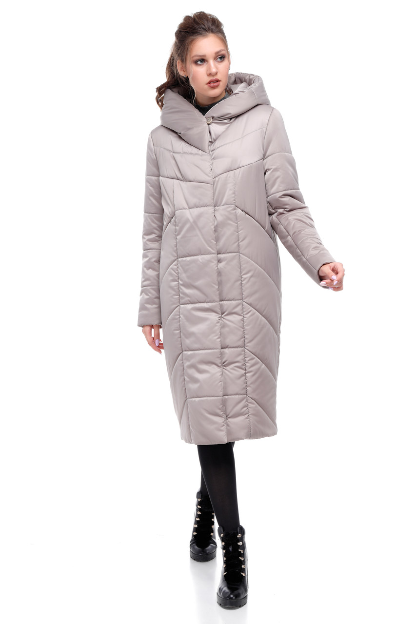 Модная удлиненная зимняя куртка  размеры 42-54