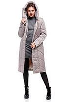 Модная удлиненная зимняя куртка  размеры 42-54, фото 3